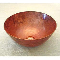 Vintage 13-inch Fired Copper 16 -gauge Vessel Sink - Thumbnail 1