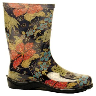 Sloggers Rain and Garden Boots Women's Size 10 Midsummer Black