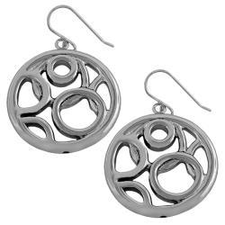 Fremada Sterling Silver Multi-circle Dangle Earrings