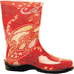 Sloggers Women's Red Paisley Tallboot