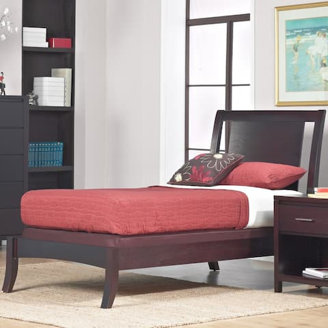 Floating Panel Twin-size Sleigh Bed