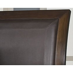 Cushioned Back Queen-size Wood Sleigh Bed - Thumbnail 1