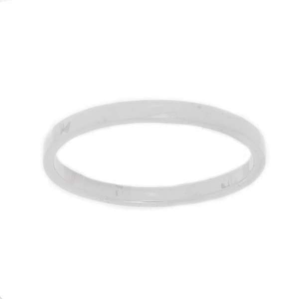 NEXTE Jewelry White Rhodium Overlay Men's Band (2 mm)