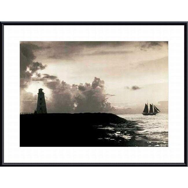 Hoppe 'Nassau Harbor Lighthouse, The Bahamas, 1927' Art Print