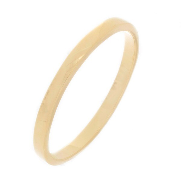 NEXTE Jewelry Yellow Women's 14k Gold Overlay Contoured Fit Band (2 mm)