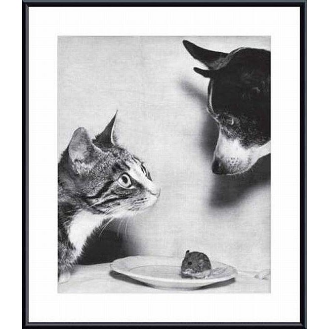 Jytte Bjerregaard Muller 'Cat and Mouse, and Dog, 1955' Metal Framed Art Print