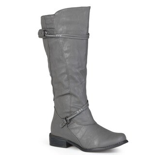 Journee Collection Women's 'Harley' Regular and Wide-calf Ankle-strap Buckle Knee-high Riding Boot|https://ak1.ostkcdn.com/images/products/5162850/P13002869.jpg?_ostk_perf_=percv&impolicy=medium