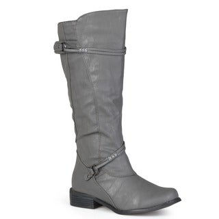 Journee Collection Women's 'Harley' Regular and Wide-calf Ankle-strap Buckle Knee-high Riding Boot (More options available)