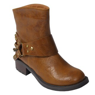 Journee Collection Women's Studded Short Boots