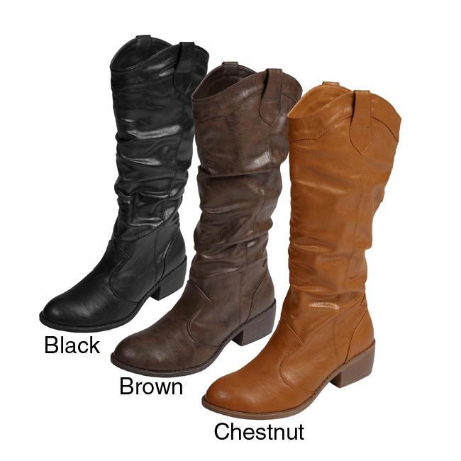 Journee Collection Women's Western Boots