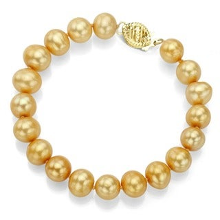 Link to DaVonna 14k Gold Golden FW Pearl 8-inch Bracelet (7.5-8 mm) Similar Items in Bracelets