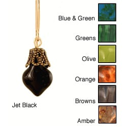 14k Gold Fill 'Anything but Antiquated' Earth Tone Glass Earrings
