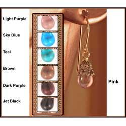 14k Gold Fill 'Midnight Dew Drop' Czech Glass Earrings