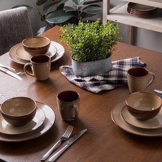 Sango 40-piece Nova Brown Stoneware Dinnerware Set