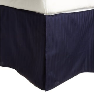 Superior 100-percent Premium Long-staple Combed Cotton 300 Thread Count Striped 15 inch Drop Bedskirt
