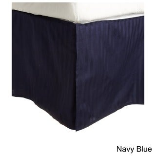 Superior 100-percent Premium Long-staple Combed Cotton 300 Thread Count Striped 15-inch Drop Bedskirt