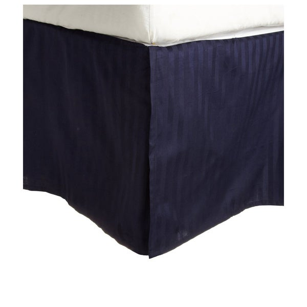 Superior 300 Thread Count Cotton Sateen Stripe 15-inch Drop Bedskirt