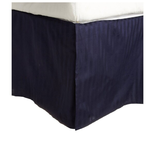 Superior 300 Thread Count Cotton Sateen Stripe 15-inch Drop Bedskirt