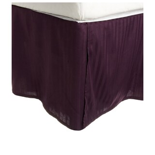 Superior 300 Thread Count Cotton Sateen Stripe 15-inch Drop Bedskirt (More options available)