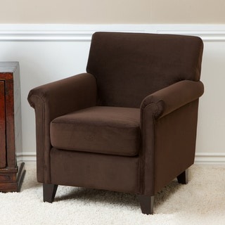 Whitney Brown Microfiber Club Chair by Christopher Knight Home