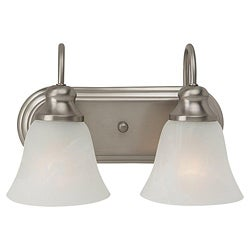 Windgate 2-light Brushed Nickel Bath Wall Fixture