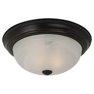 Windgate 2-light Bronze Flush Mount Ceiling Fixture