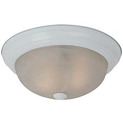 Windgate Three-light White Finish Flourescent Flush Mount Light