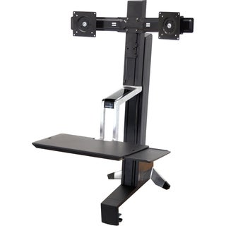 Ergotron WorkFit-S 33-341-200 Dual Sit-Stand Workstation