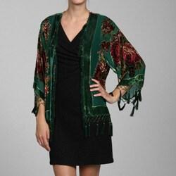Handmade Embroidered Velvet and Silk Shawl Jacket