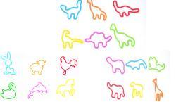 Silly Bandz Animal Shaped Silicone Rubber Band Bracelet Set (48 Piece)