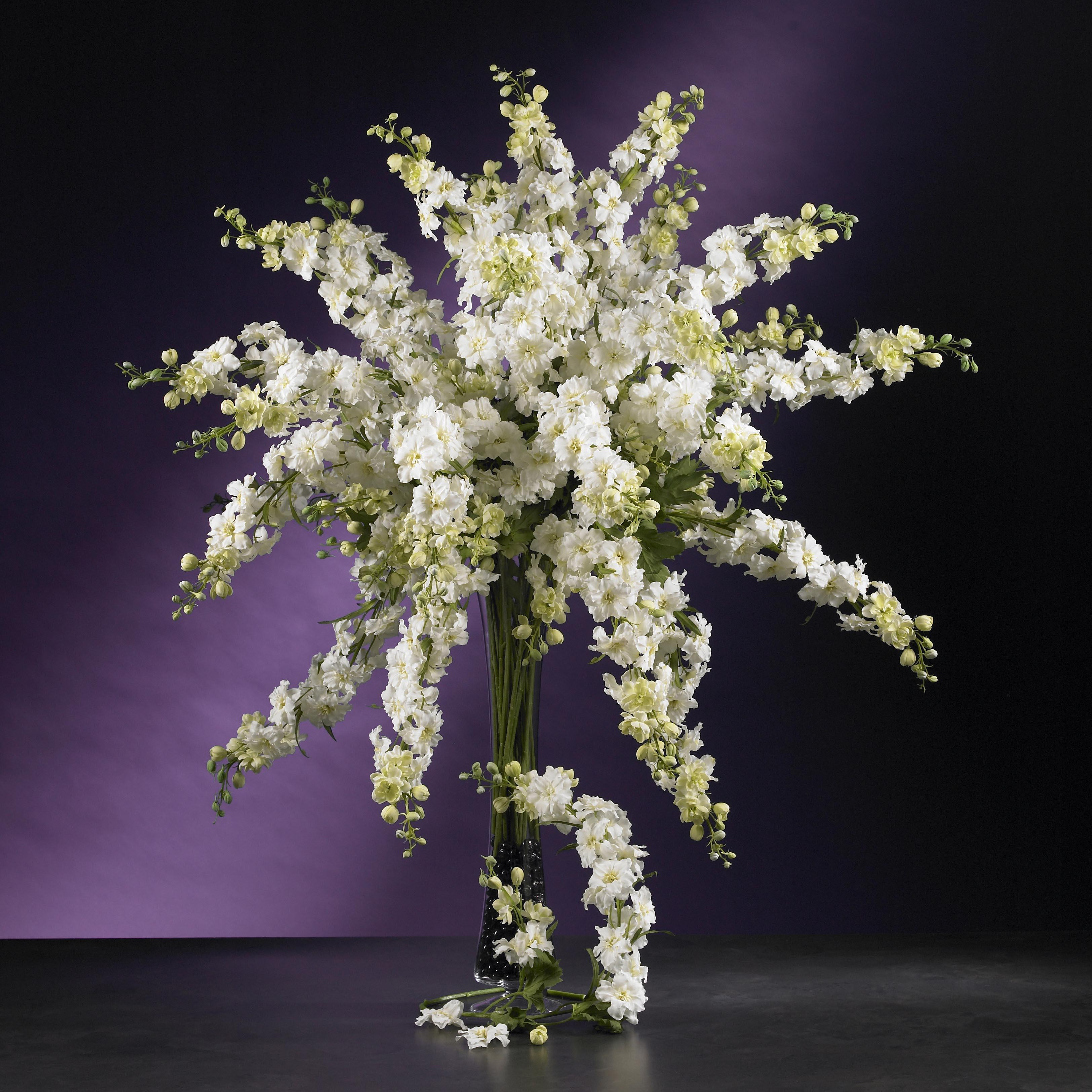 Artificial delphinium stems set of 12 free shipping for Flower arrangements with delphinium
