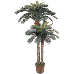 Artificial Double Potted Sago Palm Tree - Thumbnail 0