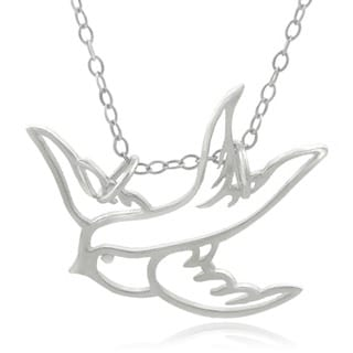Journee Collection  Sterling Silver Swallow Necklace