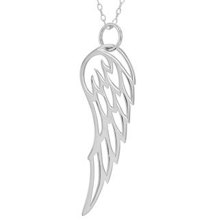 Sterling Silver Angel Wing Pendant