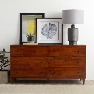 Vilas 6 drawer Tobacco Dresser. Wood Dressers   Chests For Less   Overstock com