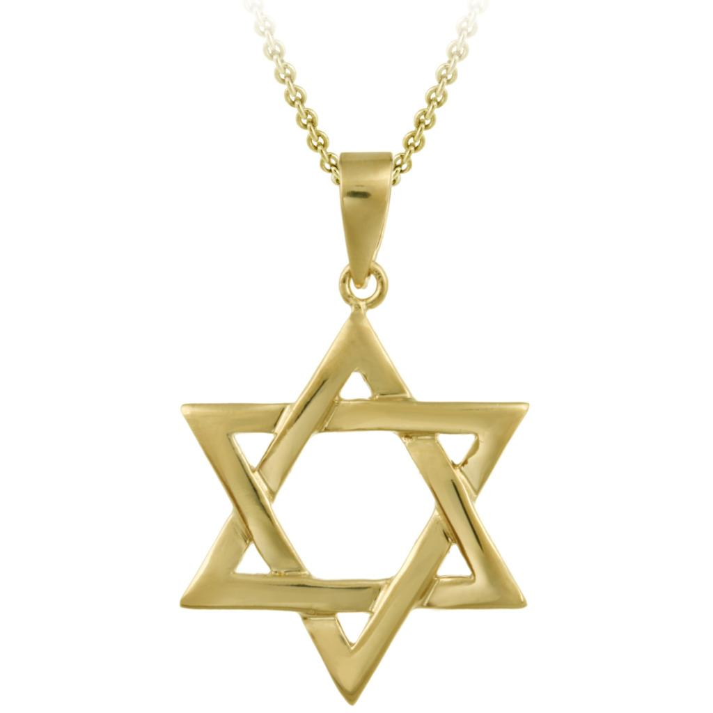 Mondevio 18k Gold over Sterling Silver Star of David Necklace