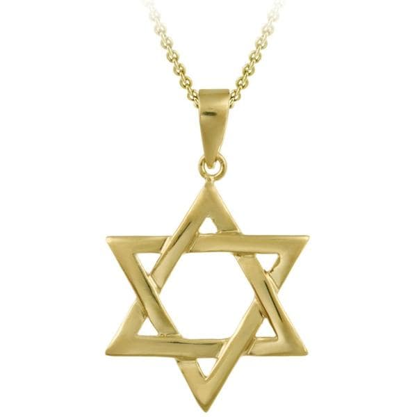 Mondevio gold over sterling silver star of david necklace free mondevio gold over sterling silver star of david necklace aloadofball Image collections