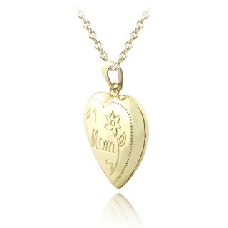 Mondevio Sterling Silver '#1 Mom' Heart Locket Necklace