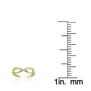 Mondevio Sterling Silver Infinity Toe Ring
