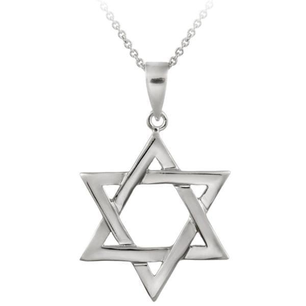 Mondevio Sterling Silver Star of David Necklace