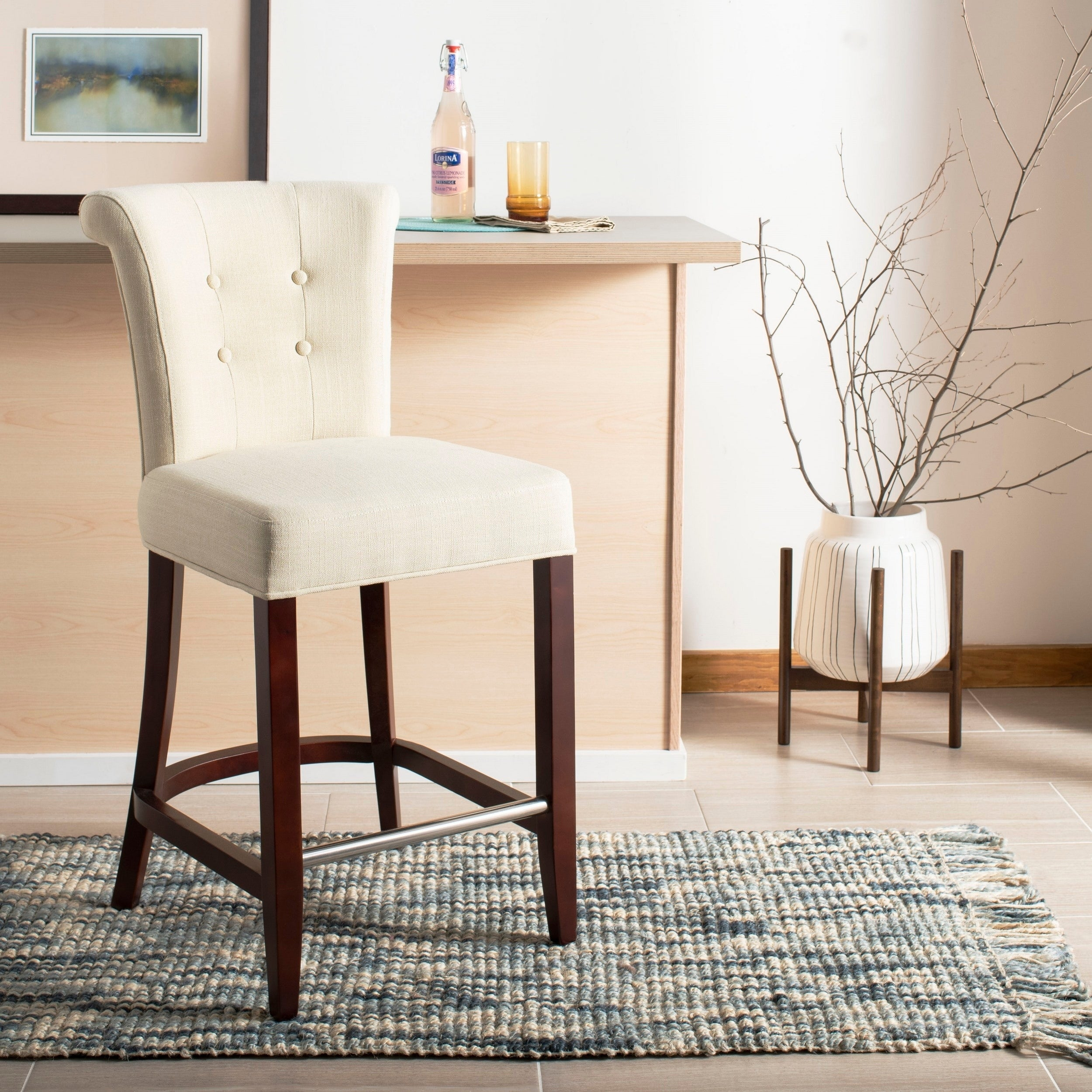 Surprising Details About Safavieh 26 Inch Parker Curved Back Counter Stool 19 6 X 24 2 X 39 8 Lamtechconsult Wood Chair Design Ideas Lamtechconsultcom
