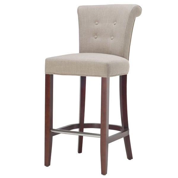 Safavieh 29.7-inch Parker Curved Back Mahogany Bar Stool