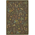 Martha Stewart by Safavieh Grove Twig Olive Green Wool Rug (5'6 x 8'6)