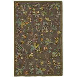 Martha Stewart by Safavieh Grove Twig Olive Green Wool Rug (7'9 x 9'9) - Thumbnail 0