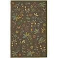Martha Stewart by Safavieh Grove Twig Olive Green Wool Rug (7'9 x 9'9)