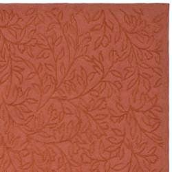 Martha Stewart Sprig Begonia Orange Cotton Rug (5' 6 x 8' 6 )