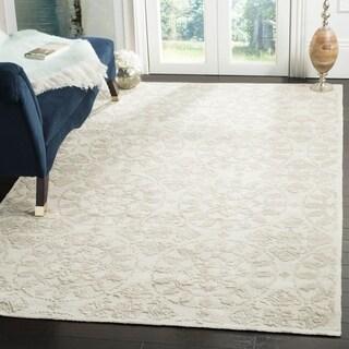 Martha Stewart by Safavieh Terrazza Shale Grey Cotton Rug (5' 6 x 8' 6 )