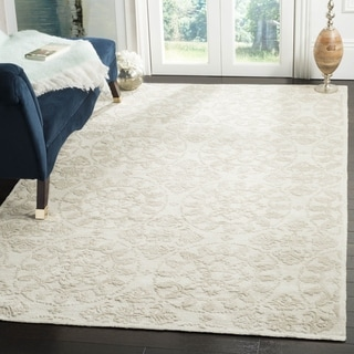 Martha Stewart by Safavieh Terrazza Shale Grey Cotton Rug (8'6 x 11'6)