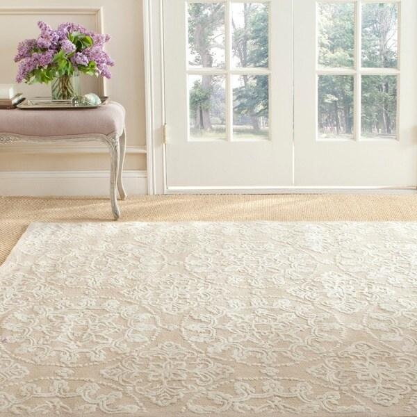 Martha Stewart by Safavieh Terrazza Ivory Cotton Rug (3'9 x 5'9)