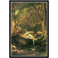 Albert Bierstadt 'The Mountain' Canvas Art